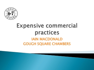 Expensive commercial practices