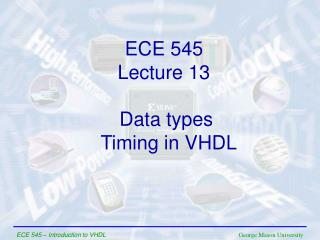 Data types  Timing in VHDL
