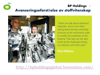 BP Holdings: advancing understanding of materials science