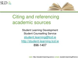 Citing and referencing academic sources