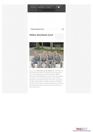 Military Beachbody Coach