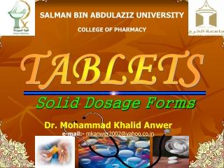 Solid Dosage Forms