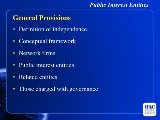 Public Interest Entities