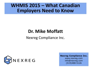 WHMIS 2015 – What Canadian Employers Need to Know