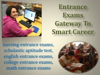 Entrance Exams Gateway To Smart Career