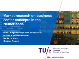Market research on business center concepts in the Netherlands