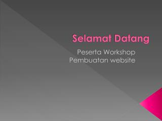 Materi e-Workshop Bikin Web