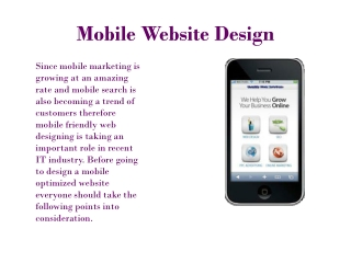 Mobile Web Design Tips