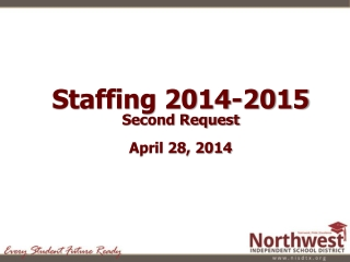Staffing 2014-2015 Second Request April 28, 2014