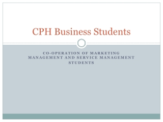 CPH Business Students