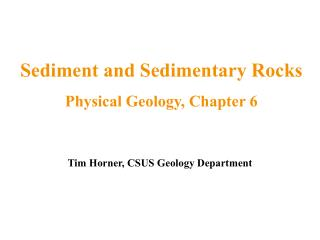 Tim Horner, CSUS Geology Department