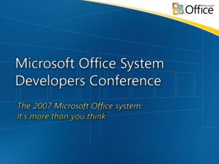 Microsoft Office  Project 2007 Server Architecture Overview