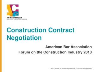 Construction Contract  Negotiation