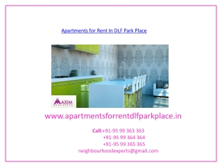 Apartments For Rent In DLF Park Place
