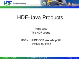 HDF-Java Products