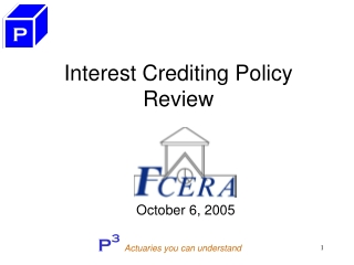 Interest Crediting Policy  Review