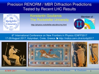 Precision RENORM / MBR Diffraction Predictions Tested by Recent LHC Results