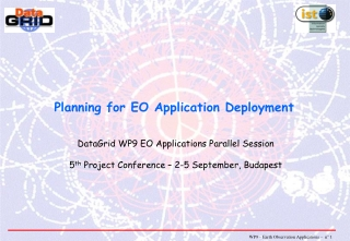 Planning for EO Application Deployment