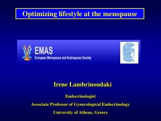 Optimizing lifestyle at the menopause