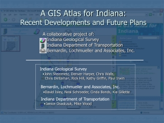 A GIS Atlas for Indiana: Recent Developments and Future Plans