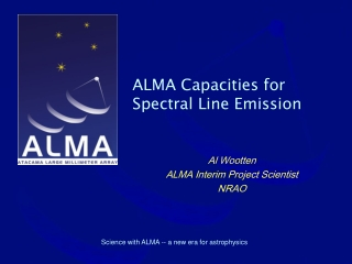 ALMA Capacities for Spectral Line Emission