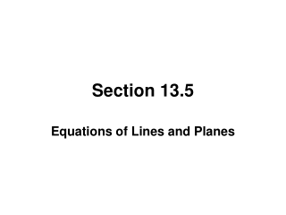 Section 13.5