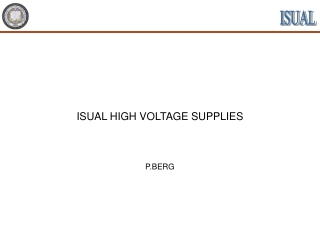ISUAL HIGH VOLTAGE SUPPLIES