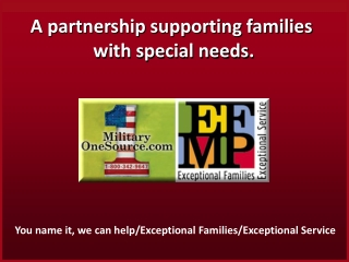 A partnership supporting families  with special needs.