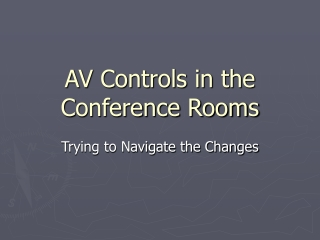 AV Controls in the Conference Rooms