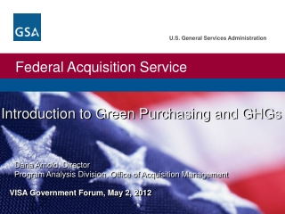 Introduction to Green Purchasing and GHGs