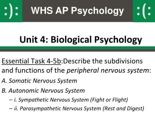 Unit 4: Biological Psychology