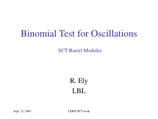 Binomial Test for Oscillations