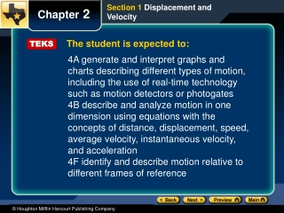 The student is expected to: