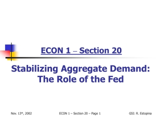 ECON 1  –  Section 20