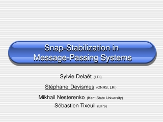 Snap-Stabilization in  Message-Passing Systems