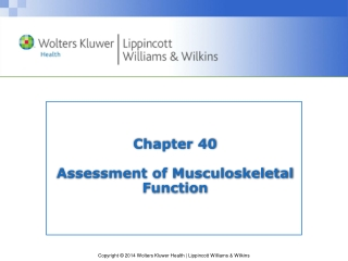 Chapter 40 Assessment of Musculoskeletal Function
