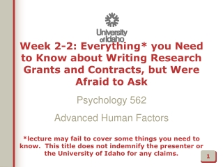 Why do I Need to Know how to Write Grants?