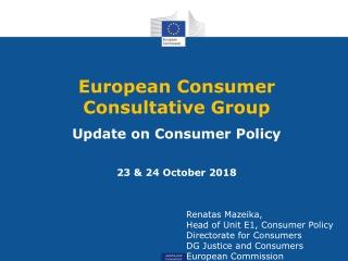 European  Consumer   Consultative  Group