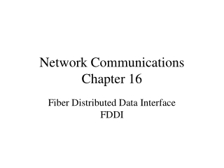 Network Communications Chapter 16