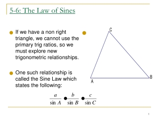 5-6: The Law of Sines