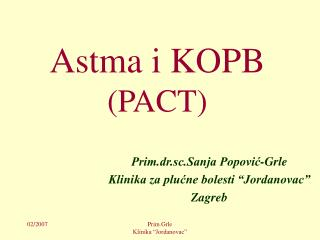 Astma i KOPB (PACT)