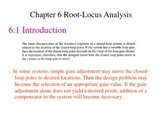 Chapter 6 Root-Locus Analysis