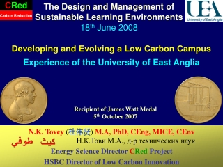 Developing and Evolving a Low Carbon Campus Experience of the University of East Anglia