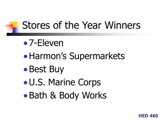 Stores of the Year Winners
