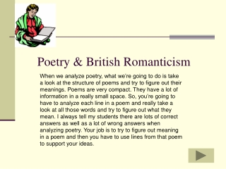 Poetry & British Romanticism