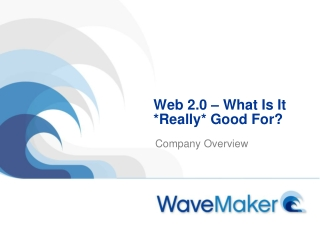 Web 2.0 – What Is It *Really* Good For?