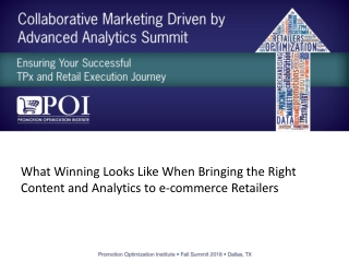 What Winning Looks Like When Bringing the Right Content and Analytics to e-commerce Retailers