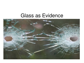 Glass as Evidence