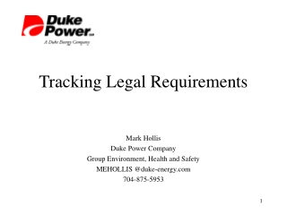 Tracking Legal Requirements