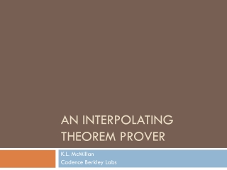 An Interpolating Theorem  Prover
